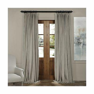 Vpch Vet160405 108 Signature Doublewide Blackout Velvet Curtain,cool  Beige,10 706795741349   Ebay With Regard To Signature Blackout Velvet Curtains (#48 of 50)