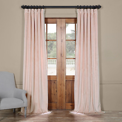 Vpyc 161207 108 Heritage Plush Velvet Curtain, 50 X 108, Ballet Pink  711081316156 | Ebay With Regard To Heritage Plush Velvet Curtains (View 45 of 50)