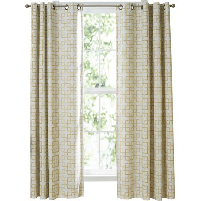 Vue Signature Marley Trellis Window Geometric Semi Sheer Throughout Sunsmart Dahlia Paisley Printed Total Blackout Single Window Curtain Panels (#43 of 45)