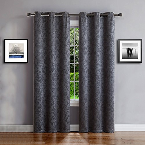 Warm Home Designs 1 Pair (2 Panels) Of Charcoal Grey Pertaining To Thermal Insulated Blackout Grommet Top Curtain Panel Pairs (#46 of 50)