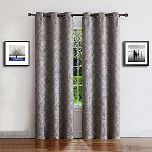 Warm Home Designs 1 Pair (2 Panels) Of Gray Insulated Inside Solid Insulated Thermal Blackout Curtain Panel Pairs (View 37 of 50)