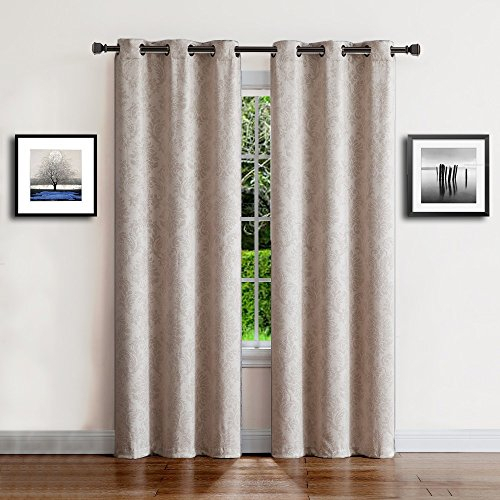 Warm Home Designs 1 Pair (2 Panels) Of Ivory Beige Insulated Within Insulated Grommet Blackout Curtain Panel Pairs (View 49 of 50)
