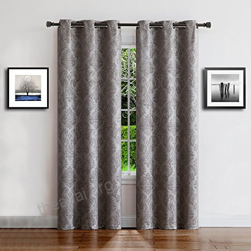 Warm Home Designs 1 Pair 2 Panels Of Light Gray Insulated Throughout Thermal Rod Pocket Blackout Curtain Panel Pairs (#48 of 50)