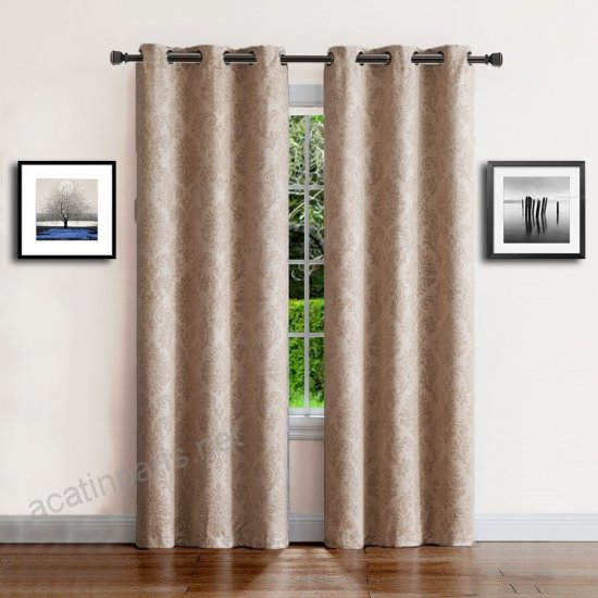 Warm Home Designs 1 Pair (2 Panels) Of Light Taupe (Beige Throughout Insulated Thermal Blackout Curtain Panel Pairs (#47 of 50)