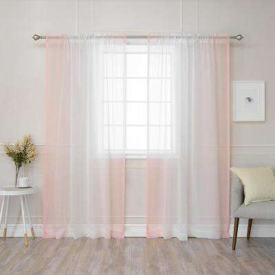 Watercolor – Pink – Curtains & Drapes – Window Treatments Inside Ombre Faux Linen Semi Sheer Curtains (#49 of 50)