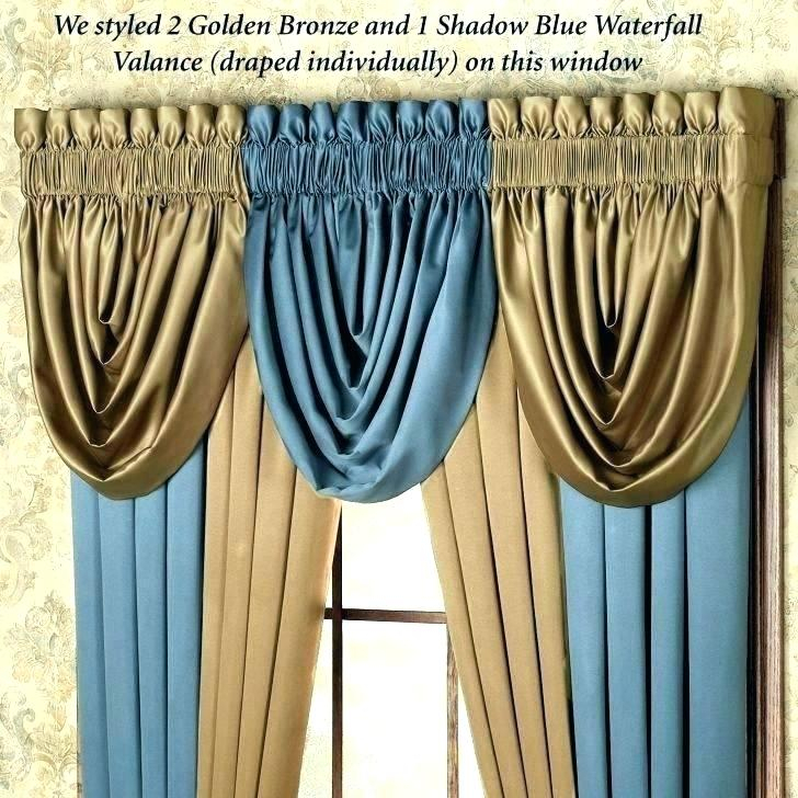 Waterfall Curtains All Seasons Blackout Valance Decorating Pertaining To All Seasons Blackout Window Curtains (View 7 of 48)