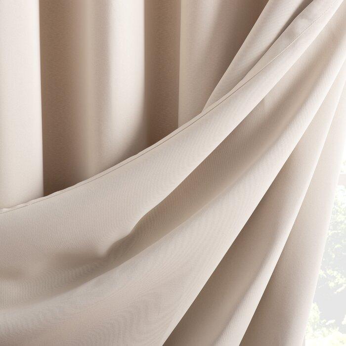 Wayfair Basics Solid Blackout Grommet Single Patio Curtain Panel Inside Patio Grommet Top Single Curtain Panels (View 32 of 38)