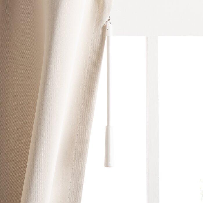 Wayfair Basics Solid Blackout Grommet Single Patio Curtain Panel With Regard To Patio Grommet Top Single Curtain Panels (#38 of 38)