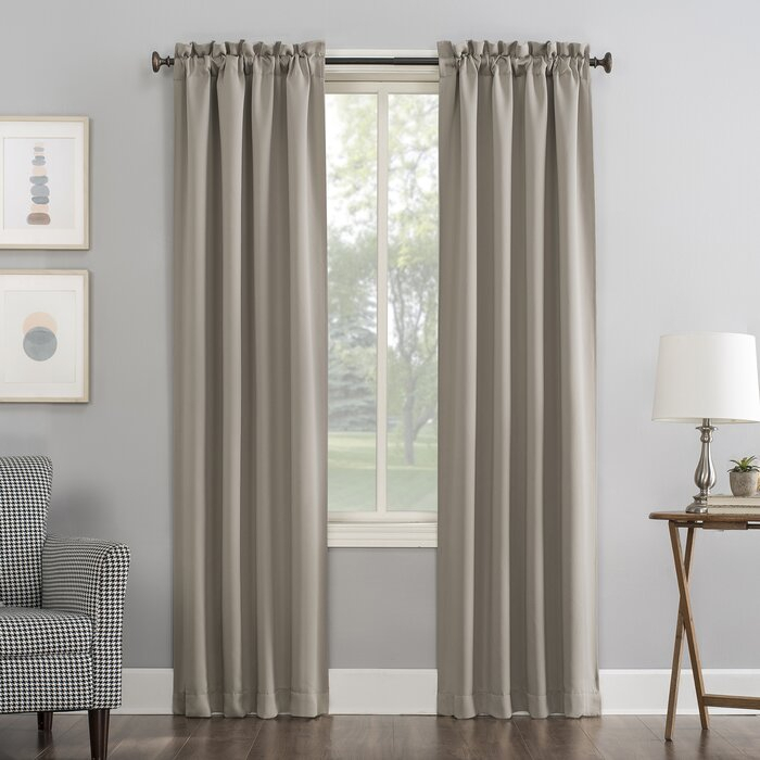 Wayfair Basics Solid Blackout Rod Pocket Curtain Panels With Solid Cotton True Blackout Curtain Panels (View 26 of 50)