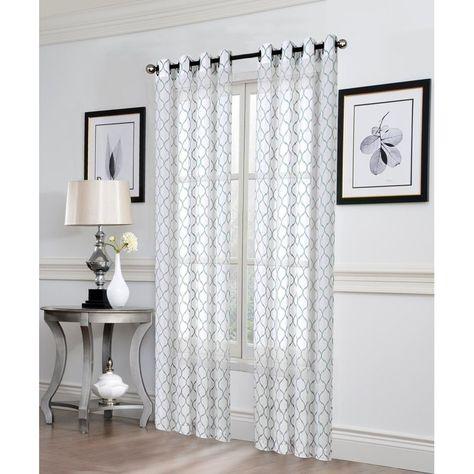 Wayfair Basics Trellis Semi Sheer Grommet Single Curtain Panel Regarding Sunsmart Dahlia Paisley Printed Total Blackout Single Window Curtain Panels (View 45 of 45)