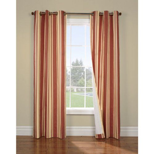 Weathermate Broad Stripe Insulated Cotton Grommet Energy Intended For Insulated Cotton Curtain Panel Pairs (#45 of 50)