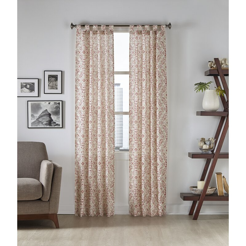 Weigand Abstract Semi Sheer Tab Top Panel Pair With Abstract Blackout Curtain Panel Pairs (View 45 of 46)
