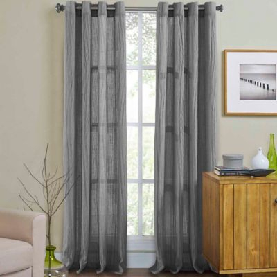 """Weston 108"""" Grommet Top Window Curtain Panel In Light Grey Within Grommet Curtain Panels (View 39 of 39)"""