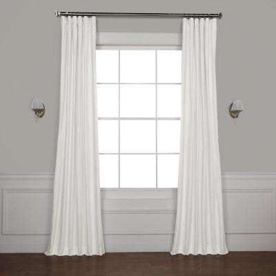 Whisper White Solid Cotton Blackout Curtain – 50 In. W X 84 In (View 48 of 50)