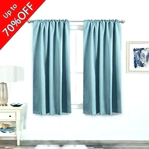 White Back Tab Curtains – Slickstrips Intended For Thermal Rod Pocket Blackout Curtain Panel Pairs (#49 of 50)