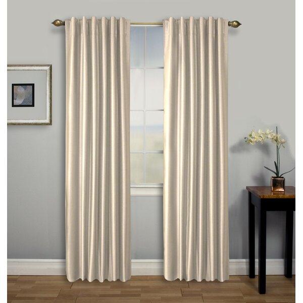 White Back Tab Curtains | Wayfair Inside Elegant Comfort Luxury Penelopie Jacquard Window Curtain Panel Pairs (View 50 of 50)