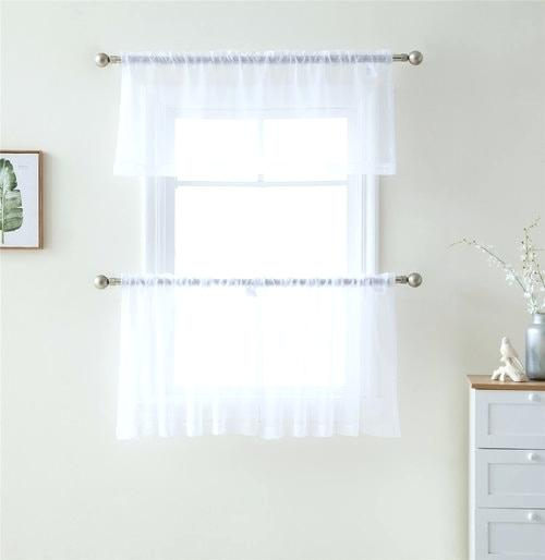 White Billowy Curtains Decorating With Plants Indoors Sheer With Sheer Voile Ruffled Tier Window Curtain Panels (View 6 of 50)