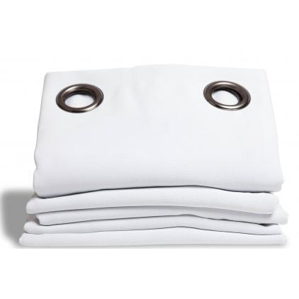 White Blackout Curtain Cotton Effect Snow Mc720 Within Solid Cotton True Blackout Curtain Panels (#49 of 50)