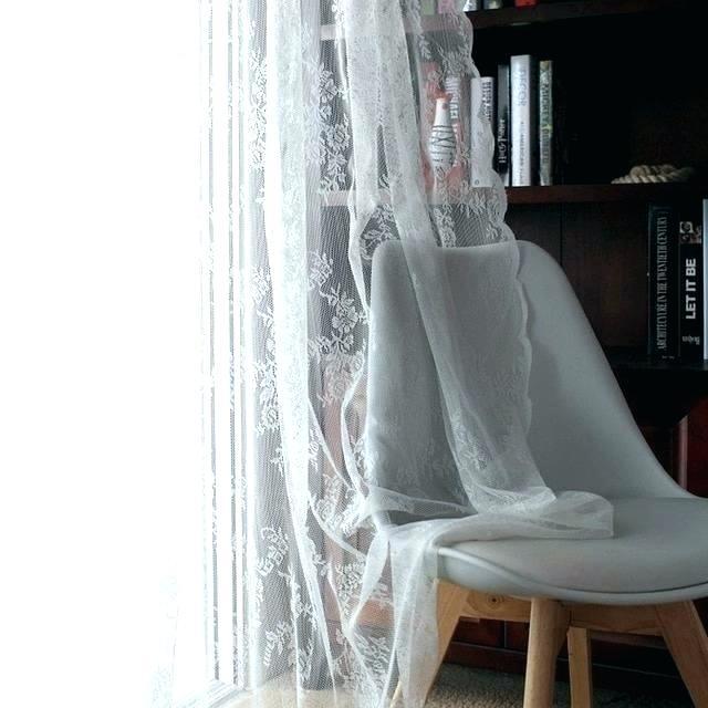 White Cotton Curtain – Compuene (#44 of 50)