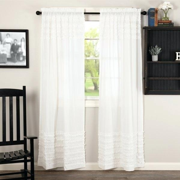 White Cotton Curtain – Compuene (View 45 of 50)
