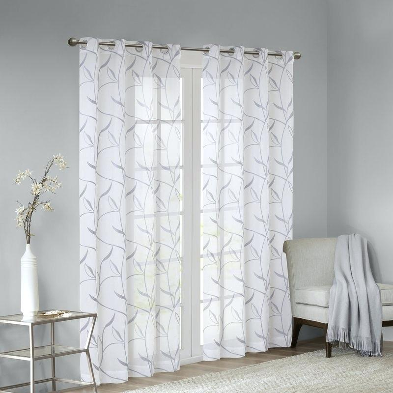 White Cotton Curtain Panels 96 | Flisol Home Within Lambrequin Boho Paisley Cotton Curtain Panels (#38 of 41)