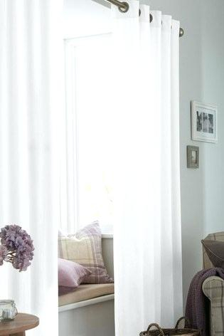 White Cotton Curtains 63 84 Online India Within Bark Weave Solid Cotton Curtains (View 46 of 50)