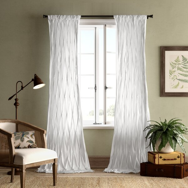 White Cotton Voile Curtains | Wayfair Regarding Emily Sheer Voile Solid Single Patio Door Curtain Panels (View 49 of 50)