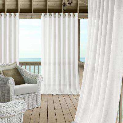 White – Elrene – Sheer – Curtains & Drapes – Window Regarding Elrene Jolie Tie Top Curtain Panels (#34 of 35)