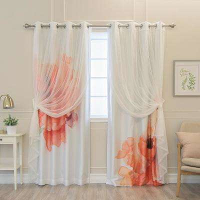 White – Faux Silk – Blackout Curtains – Curtains & Drapes Inside Bethany Sheer Overlay Blackout Window Curtains (View 48 of 50)