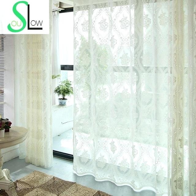 White Flower Curtains – Mayak For Overseas Leaf Swirl Embroidered Curtain Panel Pairs (View 29 of 50)