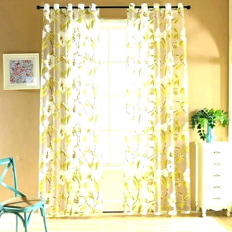 White Flower Curtains – Wetheheroes (View 30 of 50)
