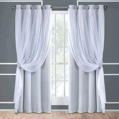White Grommet Top Curtains – Maheshreddy Throughout Forest Hill Woven Blackout Grommet Top Curtain Panel Pairs (#41 of 45)