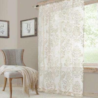 White – Jacquard – Curtains & Drapes – Window Treatments Regarding Ella Window Curtain Panels (View 50 of 50)