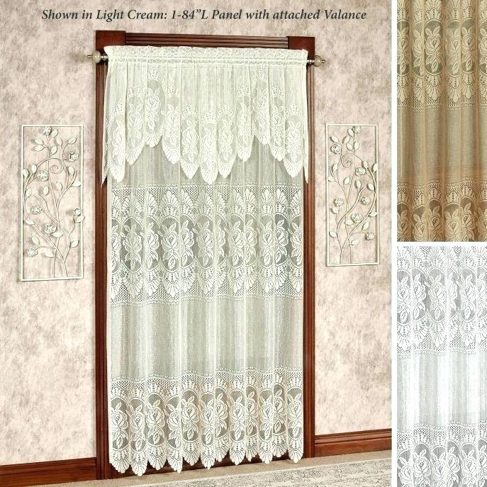 White Lace Curtains – Tipscout With Regard To Luxurious Old World Style Lace Window Curtain Panels (View 35 of 50)