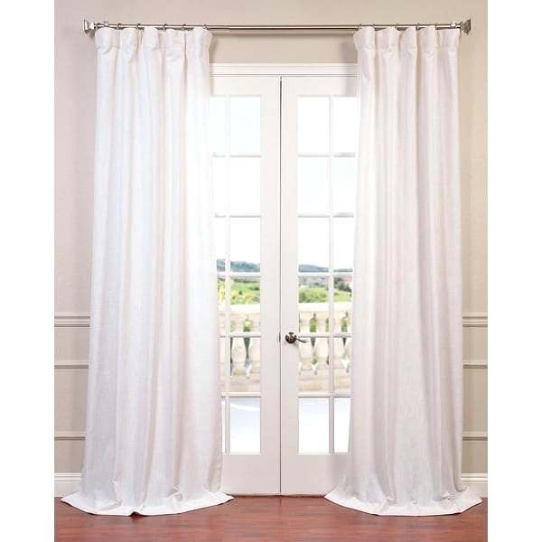 White Linen Curtain Panels – Infoindiatour Regarding Signature French Linen Curtain Panels (#43 of 50)