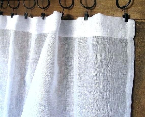 White Linen Curtain Panels – Jelajah Inside French Linen Lined Curtain Panels (#50 of 50)