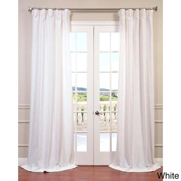 White Linen Curtains – Bioalpeadria Throughout Signature French Linen Curtain Panels (#47 of 50)