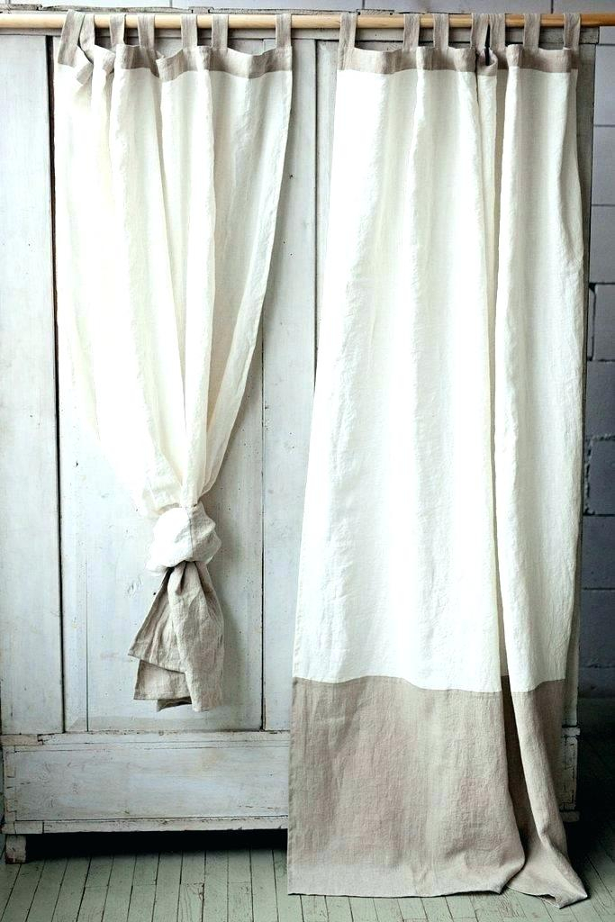 White Linen Curtains – Sylar With Signature French Linen Curtain Panels (#50 of 50)
