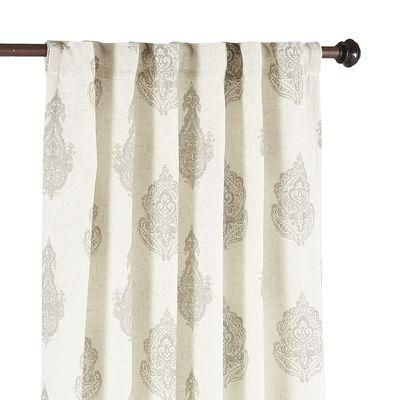White Paisley Curtains – Home Ideas With Regard To Lambrequin Boho Paisley Cotton Curtain Panels (#41 of 41)