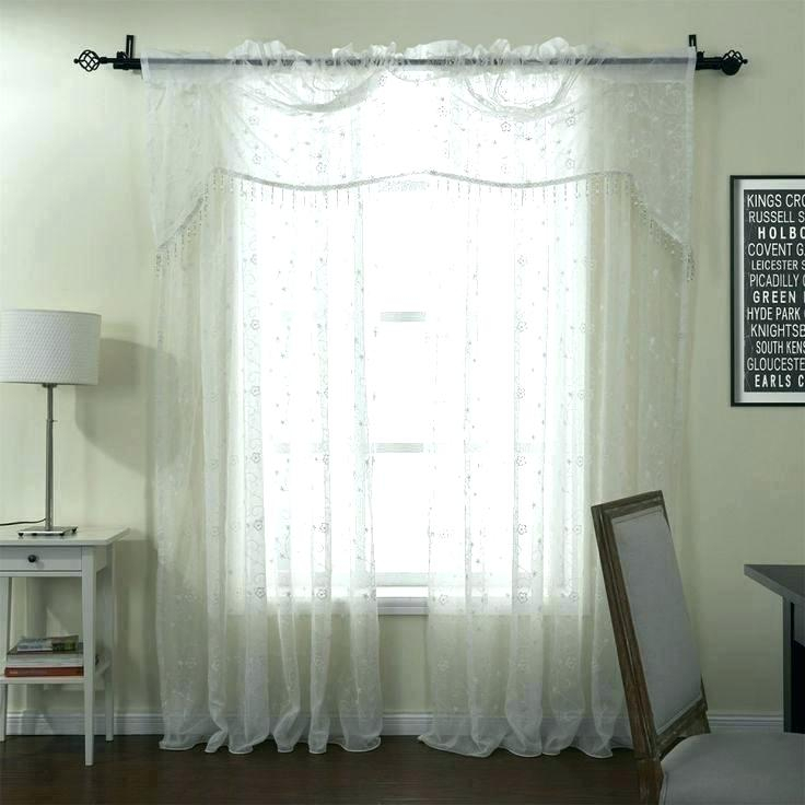 White Patterned Sheer Curtains With Valance Pattern Finery For Overseas Leaf Swirl Embroidered Curtain Panel Pairs (View 26 of 50)