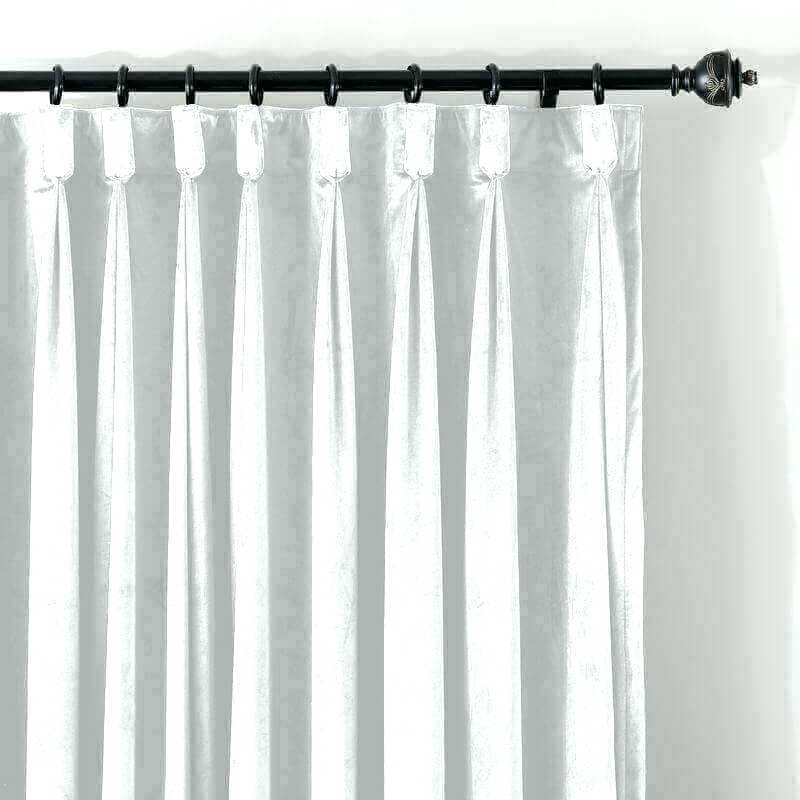 White Pinch Pleat Drapes – Muckypups Within Signature Pinch Pleated Blackout Solid Velvet Curtain Panels (View 30 of 50)