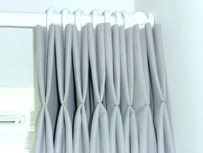 White Pleated Curtains – Mamtiling Throughout Signature Pinch Pleated Blackout Solid Velvet Curtain Panels (View 24 of 50)