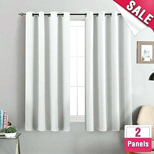 White Room Darkening Curtains – Bigoliveapp With Embossed Thermal Weaved Blackout Grommet Drapery Curtains (View 42 of 42)
