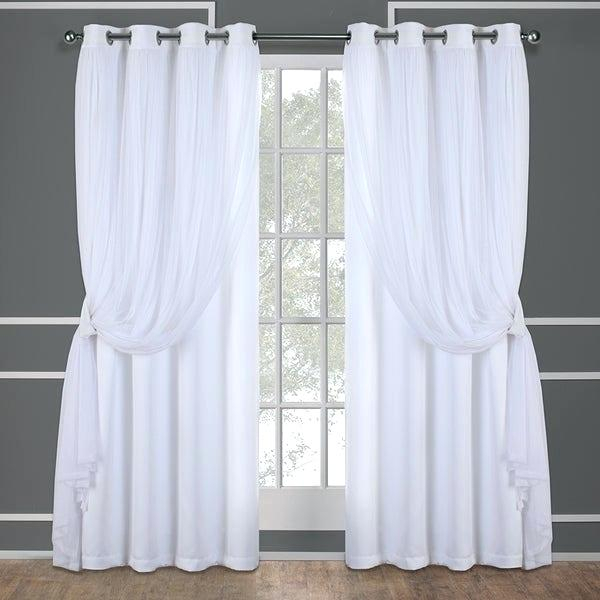 White Room Darkening Curtains For Rowley Birds Room Darkening Curtain Panel Pairs (View 6 of 49)