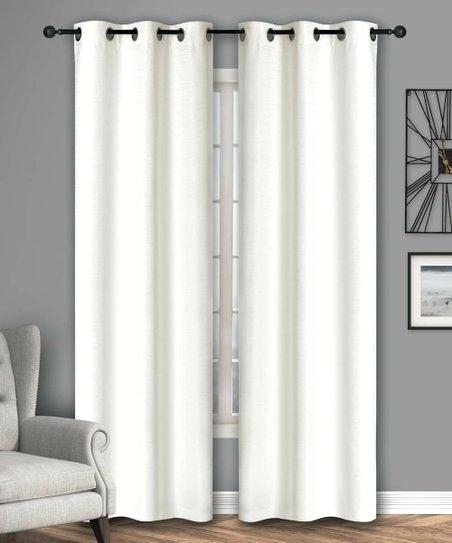 White Rowley Birds Room Darkening Curtain Panel | Flisol Home For Rowley Birds Room Darkening Curtain Panel Pairs (View 32 of 49)