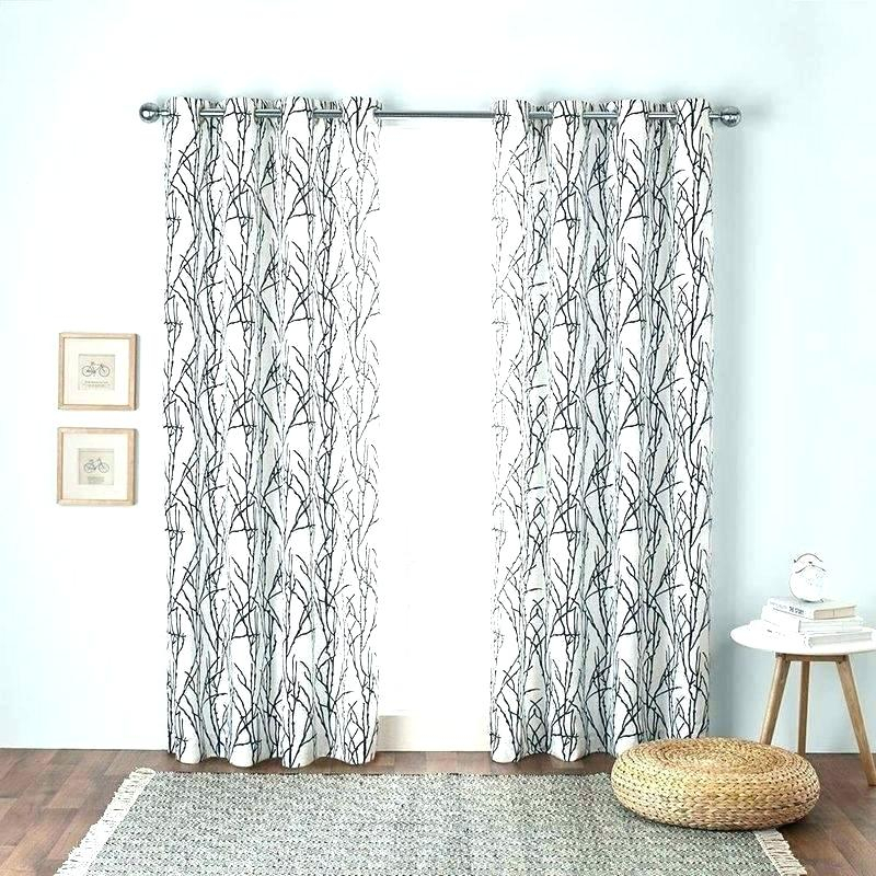 White Rowley Birds Room Darkening Curtain Panel | Flisol Home Inside Rowley Birds Room Darkening Curtain Panel Pairs (View 18 of 49)