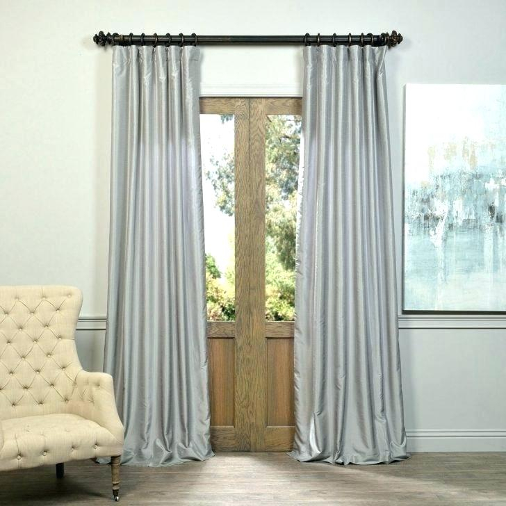 White Satin Curtains Black And Marvelous Image Concept Intended For Faux Silk Extra Wide Blackout Single Curtain Panels (View 49 of 50)