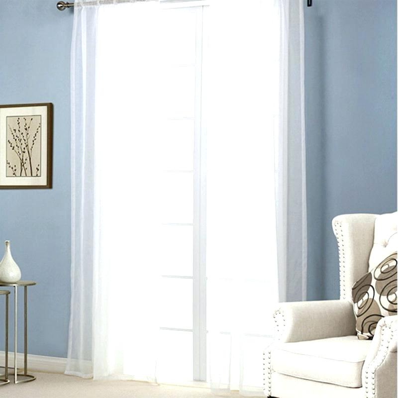 White Scarf Curtain New Free Shipping 1 Piece Sheer White Throughout Extra Wide White Voile Sheer Curtain Panels (View 41 of 50)