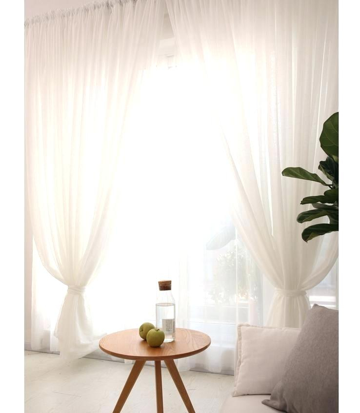 White Sheer Curtains – Scorpio Promotions Inside Arm And Hammer Curtains Fresh Odor Neutralizing Single Curtain Panels (View 25 of 50)