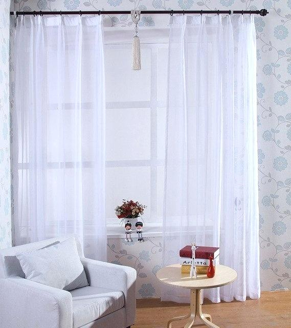 White Sheer Drapes – Eyeofthestormtabc In Signature White Double Layer Sheer Curtain Panels (View 40 of 50)